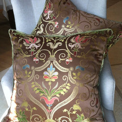 Pair of Elegant Pillows, Chocolate Brown by Kelly Witt Design + Decoration - Exotic pillows are a must for a Matisse-inspired room. Etsy always has a zillion good choices.