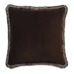 Powell Decorative Pillow - Let Powell bring a touch of its soft tradition to your décor. Both light and masculine, its paisleys and houndstooth are interwoven with mocha and spa blue tones; decorative pillows and accessories are embellished with subtle trim and button detailing.