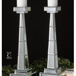 "19597 Alanna, Candleholders, S/2 by uttermost - Get 10% discount on your first order. Coupon code: ""houzz"". Order today."