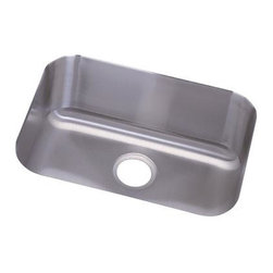 Elkay - Dayton Undermount Sink - DXUH2115 - Manufacturer SKU: DXUH2115. Material: Stainless SteelFaucet Holes: 0Thickness: 18 GaugeCode Compliance: IAPMOSound Deadening: Full SprayNumber of Bowls: 1Minimum Cabinet Size: 27 in.Sink Dimensions: 23 in. L x 20 5/8 in. WPrimary Bowl Depth: 8 in.Bowl Dim.: 21 in. x 15 3/4 in. x 8 in.Drain Size: 3 1/2 in.