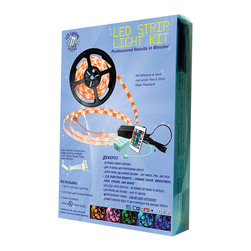 LED Lighting4Less DIY Kit - Do It Yourself LED Lighting Kit - The color changing RGB LED Strip Light Kit provides instant professional lighting to any environment and can be used virtually anywhere.