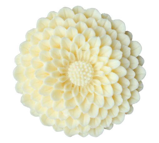 DaRosa Creations - Flower Drawer Knobs - Cabinet Knobs Mum In Butter Yellow - Flower Drawer knobs - Cabinet Knobs Mum in Butter Yellow