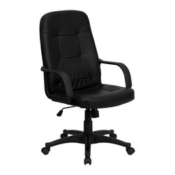 Flash Furniture - Flash Furniture Office Chairs Fabric Executive Swivels X-GG-1208H - Very affordable computer chair that will provide you with the right amount of comfort needed for browsing the internet and completing work related tasks. Chair provides passive ergonomic seating with built-in lumbar support. [H8021-GG]