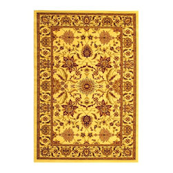 Safavieh - Rug in Creme with Persian Inspired Design (6 ft. x 9 ft.) - Size: 6 ft. x 9 ft. Machine Made. Made of Polypropylene.