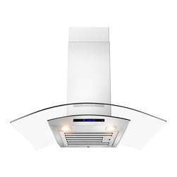 None - AKDY 36-inch OSWRHD01-36-AK Wall Mount Stainless Steel Range Hood - Improve the functionality of your kitchen with this wall-mounted range hood from AKDY. Crafted from durable stainless steel and a curved glass canopy,this elegant hood is stylish and long lasting.