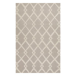 Jaipur Rugs - Jaipur Rugs Hand-Tufted Looped & Cut Wool Gray/Ivory Area Rug, 2 x 3ft - An urban contemporary styled rug collection that updates your living area with bold patterns. Ranging from soft neutrals to strong colors these rugs could live in any home.