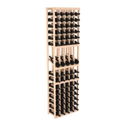 Wine Racks America - 5 Column Display Row Wine Cellar Kit in Pine, (Unstained) - Make your best vintage the focal point of your wine cellar. Four of your best bottles are presented at 30° angles on a high-reveal display. Our wine cellar kits are constructed to industry-leading standards. Youll be satisfied with the quality. We guarantee it.