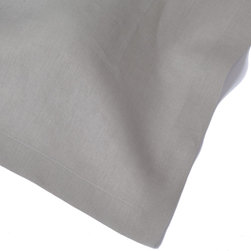 """Huddleson - Silver Grey Linen Napkin 20x20 (Set of Four) - """"Silver Grey Italian linen napkin.  Not all linens are created equal. The Italian linen Huddleson uses to make our napkins, tablecloths, placemats and runners is the finest quality available."""