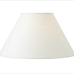 PB Basic Linen Lamp Shade, Large White - Expand your options with our interchangeable PB Basic Linen Lamp Shades, designed to be combined with any of our Mix & Match(R) lamp bases (sold separately). Small: 13'' diameter, 9'' high Medium: 17'' diameter, 11.5'' high Large: 21'' diameter, 13'' high 100% linen. Pair with any of our Mix & Match(R) lamp bases (sold separately).