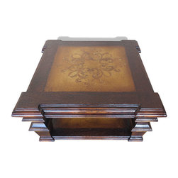 Gramercy Coffee Table, Black Stain with Scrolls - Gramercy Coffee Table, Black Stain with Scrolls