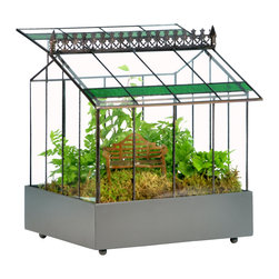 H Potter - H Potter Glass Terrarium Wardian Case - This little greenhouse will make all your friends green with envy. It's crafted in a classic style with a pitched roof that opens for ventilation, decorative roof trim and a strip of colorful stained glass. You can use it to protect your delicate potted plants or use the plastic liner and grow your mini garden.