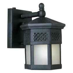 Maxim - Maxim Scottsdale EE One Light Country Forge Frosted Seedy Glass Wall Lantern - This One Light Wall Lantern is part of the Scottsdale Ee Collection and has a Country Forge Finish and Frosted Seedy Glass. It is Wet Rated and Outdoor Capable.