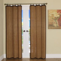 Versailles Home Fashions - Easy Glide All-Natural Bamboo Ring Top Window Curtain Panels - These all-natural, sustainable bamboo window treatments bring the beauty of natural wood into your home.