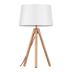 ParrotUncle - Tripod Base Wood Table Lamp With Large White Shade - Modern light never shone so bright. Crafted of sustainable wood, tripod base and a linen crash shade, this exquisite table lamp is as functionally astonishing as it is aesthetically out-of-this-world – a true original to light up your life.