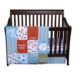 Trend Lab - Trend Lab Little MVP Baby Crib Bedding Set - The Little MVP Baby Crib Bedding Set by Trend Lab, along with the Little MVP bedding accessories.