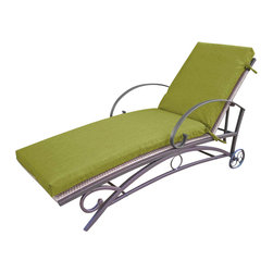 Blazing Needle Designs - Outdoor Patio Chaise Lounge Cushion w Solid Fabric (74 in. - Avocado) - Color: 74 in. - Avocado. Furniture not included. Filled with premium Dacron foam. Washable as long as foam is taken out first. Equipped with complete UV fading protection and outdoor weatherproof protection. Equipped with ties for stability. All cushions are custom made and are not returnable. 22 in. W x 72 in. D x 4 in. H (6 lbs.). 22 in. W x 74 in. D x 4 in. H (8 lbs.)