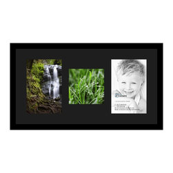 ArtToFrames - ArtToFrames Collage Photo Frame  with 1 - 8x8 and 2 - 8x12 Openings - This classic Satin Black, 1.25 inch thick collage frame, comes equipped with an arrangement for 1 - 8x8 and 2 - 8x12 artwork of your choice. This collage is part of a selection collage frame group and boasts a sweeping line of premium quality frames at a affordable price tag you can smile about! Handmade and developed to showcase your artwork ensuring you 1 - 8x8 and 2 - 8x12 art will fit right in. Bordered in a bold Satin Black, smooth frame and joined by a clean Black mat, the collage arrangement most definitely shows off your photographs, and your most favorite memories in an entirely incredible and fresh way. This collage frame comes protected in Styrene, easy-to-use with appropriate hardware and can be displayed within a few seconds. These premium quality and genuine wood-based collage frames change in design and size specifics; all in contemporary and modern design. Mats are available in a assemblage of color tones, openings, and shapes. It's time to tell your story! Preserving your displaying your memories in an original and artistic brand-new way has never been easier.