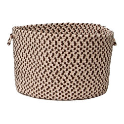 """Colonial Mills - Boston Common Storage Basket - Harbour Lites, 14""""x10"""" - Braided, bold and traditional, this Harbour Lites flat braid storage basket is perfect for storing anything from books to toys to extra towels in the bath."""