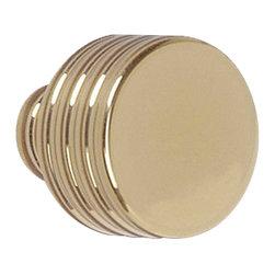 "Renovators Supply - Cabinet Knobs Bright Solid Brass 1"" Dia Drum Cabinet Knob - Brass drum cabinet knob has a 1"" diameter."