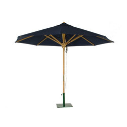 Westminster Teak Furniture - Westminster Teak Premium Round Parasol, 118-Inch Diameter - A fine teak patio umbrella can make all the difference on a sunny day. From breakfast to working outdoors to midday lunches, you will want to have shade. Strong and stable, no gust of wind will take this baby out. Choose from 95 made to order Sunbrella fabric colors and get yourself an ecofriendly garden parasol!