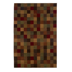 """Oriental Weavers - Contemporary Allure 7'8""""x10'10"""" Rectangle Brown-Red Area Rug - The Allure area rug Collection offers an affordable assortment of Contemporary stylings. Allure features a blend of natural Brown-Red color. Machine Made of Nylon the Allure Collection is an intriguing compliment to any decor."""