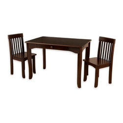 KidKraft - Avalon Table & Chair Set - Espresso by Kidkraft - Our Avalon Table and 2 Chair Set is simple, elegant and would look perfect in any child's room. The sturdy table is an ideal place for kids to finish up homework, play with their favorite toys or even eat a quick snack.