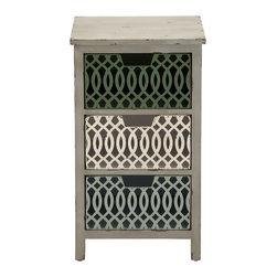 Simple and Captivating Wood Metal Storage Chest - Description: