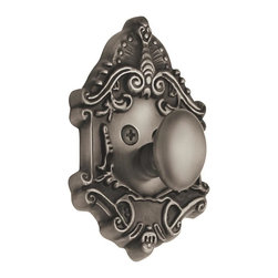 Nostalgic Warehouse - Nostalgic Victorian Single Cylinder Deadbolt Keyed Alike in Antique Pewter - The Victorian Single Cylinder Deadbolt in antique pewter with its distinct curvilinear embellishment, is unmistakably old world vogue. Keyed alike. Made of solid (not plated) forged brass for durability and beauty.