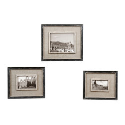 Uttermost - Uttermost 18537 Kalidas Cloth Lined Photo Frames Set of 3 - Uttermost 18537 Kalidas Cloth Lined Photo Frames Set of 3