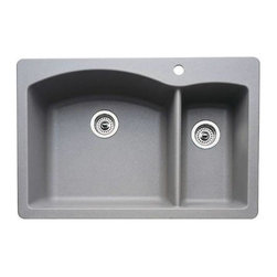 Blanco 440198 Diamond 1- 1/2 Bowl Silgranit II dual mount Kitchen Sink In Metall -
