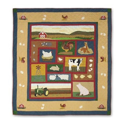 Patch Quilts - Barnyard Queen Duvet Cover - -Constructed of 100% Cotton  -Machine washable; gentle dry  -Made in India Patch Quilts - DCQBARN