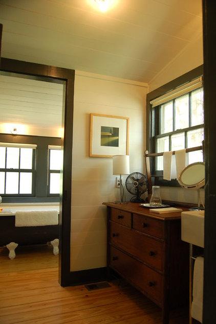 Farmhouse Bathroom by Tim Cuppett Architects