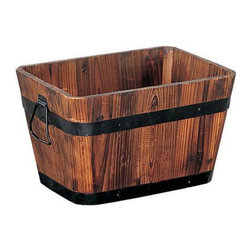 Organize It All - Organize It All Medium Rectangular Planter - Set of 2 Multicolor - 83164W-2 - Shop for Planters and Pottery from Hayneedle.com! As versatile as they are beautiful the Organize It All Medium Rectangular Planter - Set of 2 features a pair of planter boxes that are constructed of real oak and forged iron to give your space a provincial feel. Complete with drainage holes on the bottom and iron side handles each planter is ideal for growing a flourishing garden or can be used inside your home to store anything from throws to decorative pillows in a gorgeously rustic way.About Organize It AllWith masterful designs using top-quality materials Organize It All is dedicated to providing convenient and stylish storage solutions for every room in your home believing that a well-organized environment is more enjoyable.