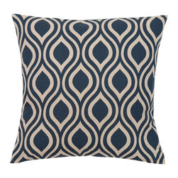 Look Here Jane, LLC - Nicole Indigo Navy Pillow Cover - PILLOW COVER