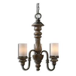 Uttermost - Torreano 3 Light Wooden Chandelier - Torreano 3 Light Wooden Chandelier