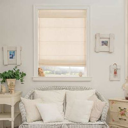 Norman Roman Shades - Roman Shade. Whites and off-whites,Neutrals and earth tone - Roman Shade - Buy with Confidence, Get Free Samples Today!Norman Roman Shades from Blinds.com offer high quality woven fabrics with soft, luxurious style and is our only completely cordless roman shade option making it a safer for homes with children. These shades feature a Flat Style that has a simple elegant design and comes in a variety of colors. A fabric wrapped headrail is included finishing off the look of your shade.