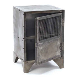 Vintage Steel Shoe Locker - Store your shoes in this shoe locker from the antique European furniture collection. It vintage steel make gives it sturdiness and durability to serve you long lasting. It provides ample space for storage with two racks that can be locked with the help of door.