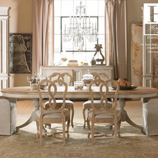 Transitional Dining Room by HOME FASHION INTERIORS
