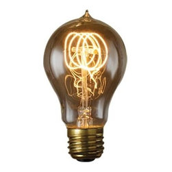 Bulbrite - Nostalgic Quad Loop Light Bulbs - 6 Bulbs - One pack of 6 Bulbs. Historic style. 120V E26 base Victorian incandescent bulb type. Dimmable. Wattage: 25W. Average hours: 3000. Color rendering index: 100. 360 degrees beam spread. Color temperature: 2000K. Lumens: 52. Perfect for chandeliers, sconces and outdoor lighting. Maximum overall length: 4.5 in.