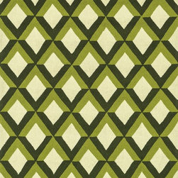 "Loloi Rugs - Loloi Rugs Venice Beach Collection - Green Trellis, 7'-10"" Round - The Venice Beach Collection brightens up your home - inside or out - with a series of appealing, modern, hand-hooked designs from China. Made of 100-percent polypropylene, the rugs are UV and mildew-resistant."