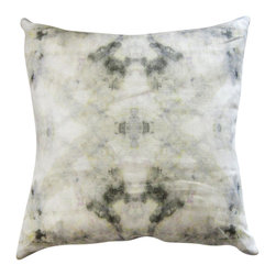"Eskayel - The Drama - Cloud 18""X18"" Pillow - Nothing changes the look or mood of your room faster than new pillows. Here, a dreamy, kaleidoscopic pattern is printed on both sides for an ethereal effect sure to show off your personality. The 18-inch square cover is made of 100 percent linen and includes a hidden zipper to remove the insert."