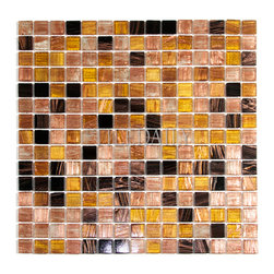 SALE ITEMS - GM0119 - Gold Shimmer Glass Mosaic, Bronze Mix