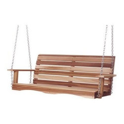 All Things Cedar Porch Swing - You'll love the classic beauty and elegance of the All Things Cedar Porch Swing. This beautiful swing is made of clear grade Western Red Cedar which is naturally resistant to rot, decay, and insects, not only ensuring that it will last for years, but that it will also retain its beauty. You'll love its natural sanded finish and the fact that, if you choose, it can be painted or stained to match your outdoor decor. Featuring hardwood doweling and pre-drilled holes, this swing has routed edges for clean lines and an elegant look as well as rust-resistant hardware. It's 26-foot hanging chain is strong, durable, and gives you plenty of hanging space. Spend time with friends and family while relaxing outdoors in the warm summer air. Perfect for sipping on a cold drink while you watch the sunset, this porch swing is a great addition to your home. Additional Features Beautiful, finely sanded finish Rust-resistant hardware Naturally resistant to rot, insects, and decayAbout All Things Cedar A world leader in fine patio furniture, garden furniture, and other accessories, All Things Cedar is a smart choice for your outdoor needs. They offer an extensive line of unique items made from high-quality, weather-resistant woods, including clear-grade cedar, teak, and more. Their items are designed with care in timeless fashions that are sure to enhance your space. All Things Cedar prides themselves on fine customer service and dependable products.
