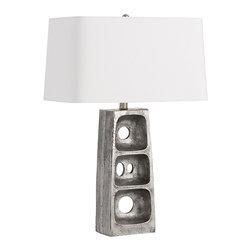Arteriors - Arteriors 44331-496 Geoff Lamp - Arteriors 44331-496 Geoff Lamp made with Antiqued Aluminum.