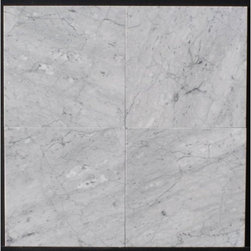 "Carrara White Marble Polished Tiles - 16"" x 16"" Full solid Italian Carrara White Polished Marble Tiles. Sold by Piece"