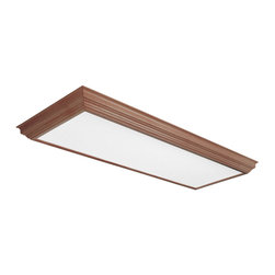 AFX Lighting - AFX Lighting KCM432R8 Oak KCM Series Flush Mount - AFX Lighting KCM432R8 Oak KCM Series Flush Mount