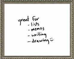 Amanti Art - 'Parisian Silver Glass Dry-Erase Board (white) - Small' Framed Art Print 22 x 18 - Perfect for writing and drawing, this glass message board works with standard dry erase markers (not included). This Parisian Silver Glass Dry-Erase Board (white) features an ornate patterned frame strongly accented by a dark pewter patina. There is an antiqued inner slope with fine beaded pattern on the inner edge.