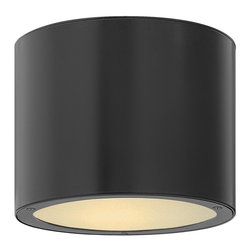 Hinkley Lighting - Hinkley Lighting 1663SK-GU24 Luna Contemporary Outdoor Flush Mount Ceiling Light - Luna is a modern collection of solid aluminum fixtures offered in a unique combination of contemporary styles, including sleek wall lanterns with a dual light source and decorative reflector. Luna also offers chic pocket wall sconces and compact ceiling m