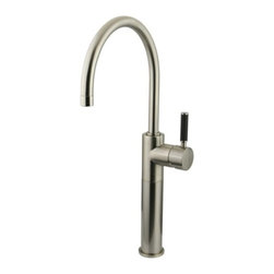 Kingston Brass - Kingston Brass Satin Nickel Kaiser Single Handle Vessel Sink Faucet FS8038DKL - The single-handle vessel sink faucet is fabricated from solid brass material for durability and reliability. Its sleek design and lustrous appeal also features a premium color finish which is resistant to tarnishing and corrosion. With its solid brass construction and smooth detail, the faucet is made to appeal but also is engineered to be drip-free, care-free and long-lasting.Manufacturer: Kingston BrassModel: FS8038DKLUPC: 663370180736Product Name: Single Handle Vessel Sink FaucetCollection / Series: KaiserFinish: Satin NickelTheme: Contemporary / ModernMaterial: BrassType: FaucetFeatures: Constructed from solid brass for durability and reliability
