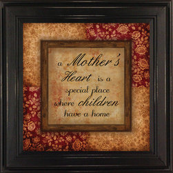 MyBarnwoodFrames - A Mothers Heart Is a Special Place Framed Quote - A  Mother's  Heart  is  a  Special  Place  Where  Children  Have  a  Home          Here's  the  perfect  Mother's  Day  Gift  for  someone  you  love.  Give  her  a  quote  framed  in  a  decorative  black  wood  picture  frame.                      Please  click  here  to  see  our  entire  collection  of  Framed  Quotes